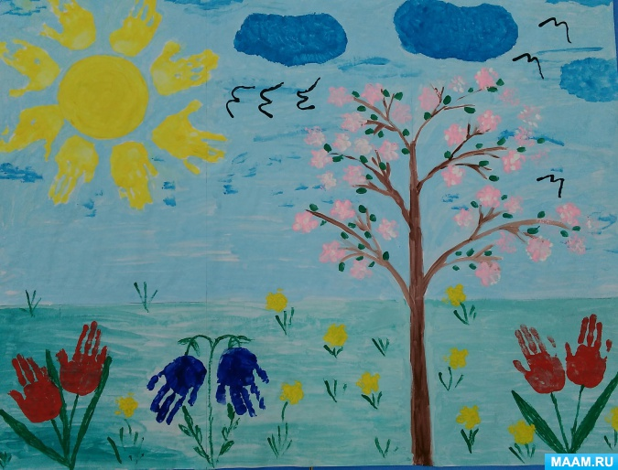 отправка рисование на тему весна в младшей группе картинки свежие объявление продаже