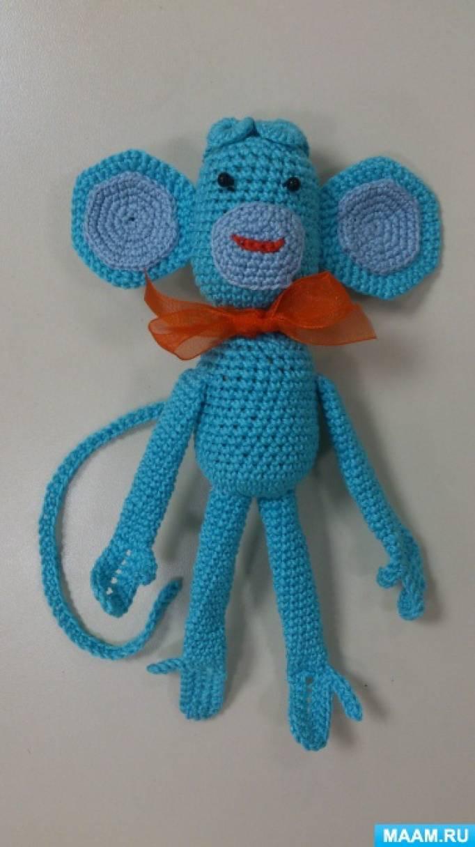 Мастер-класс «Вязаная игрушка-шумелка «Весёлая обезьянка»