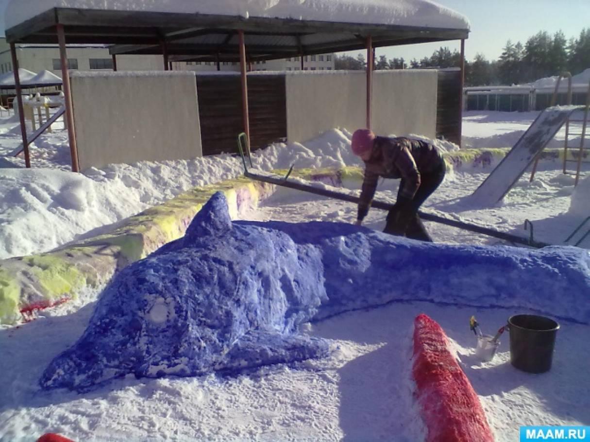 Фотоотчет о конкурсе зимних построек из снега