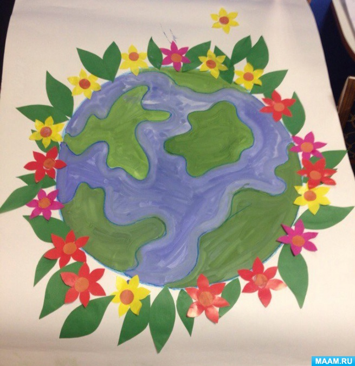 Создание стенгазеты «Наша цветущая планета». 2 младшая группа.
