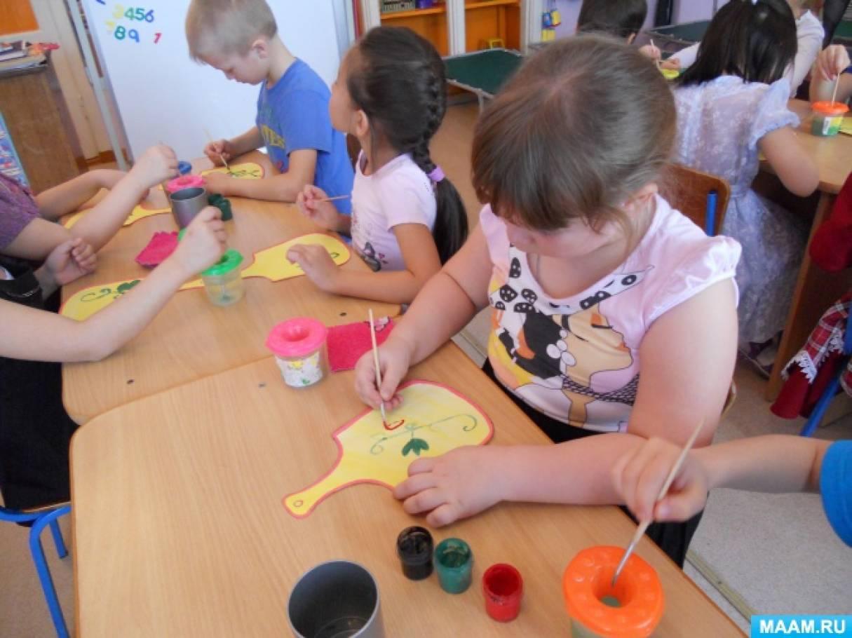 Конспект занятия по декоративному рисованию хохлома