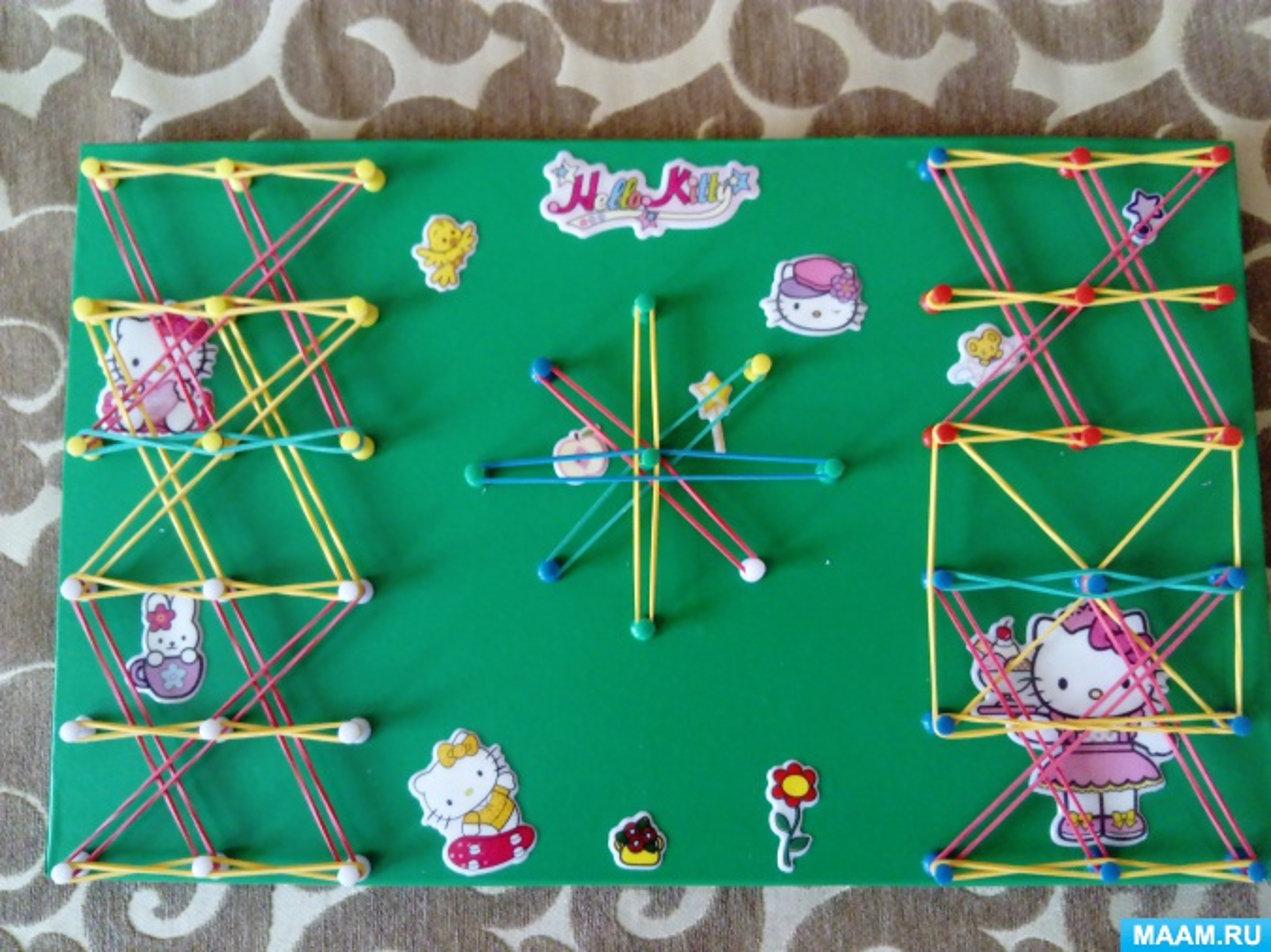 Мастер-класс по изготовлению математического планшета для детей по типу игры «Геоконт»