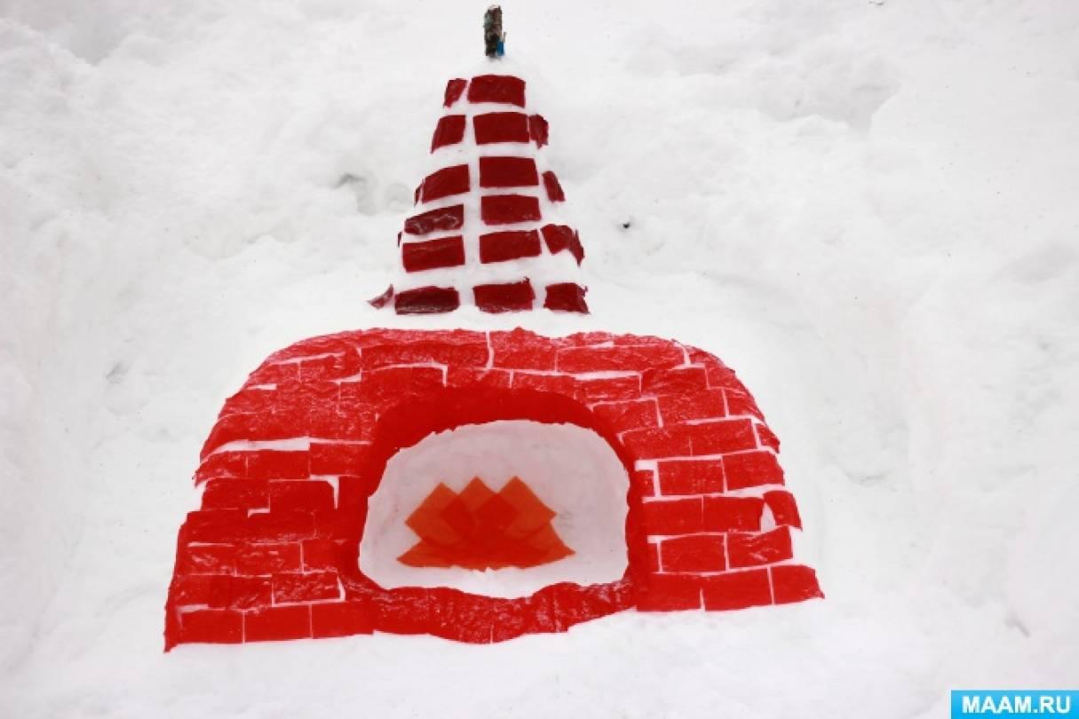 Как можно украсить зимнюю площадку.