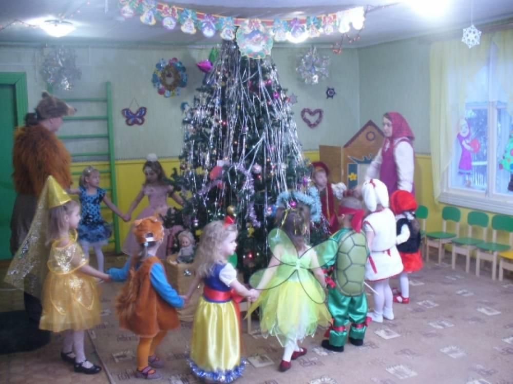 новогодний сценарий с машей и медведем для детского сада