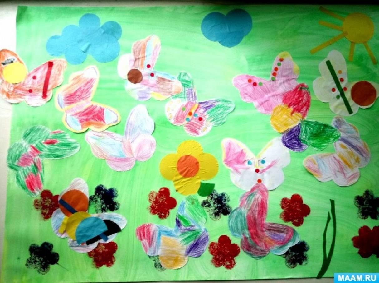 Конспект НОД по рисованию «Бабочки вернулись»