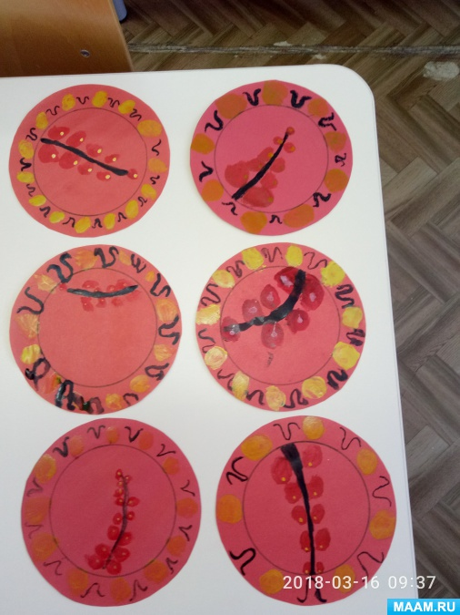 конспект по рисованию знакомство с хохломской росписью