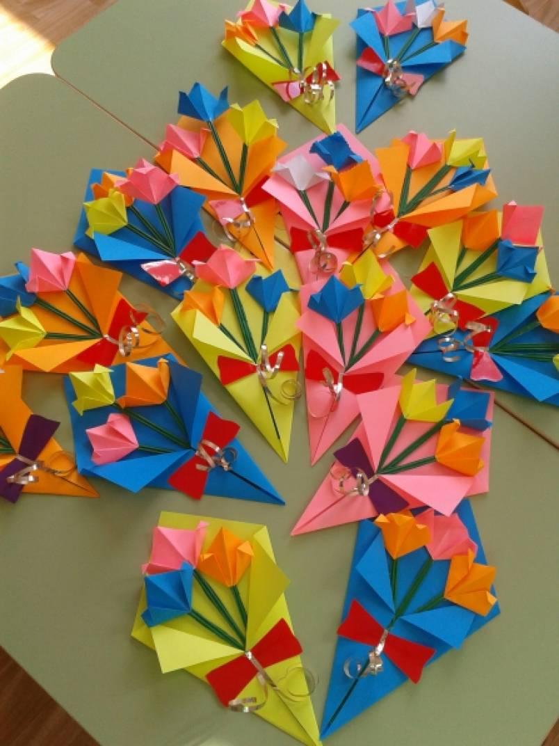 Подарок маме на 8 марта своими руками оригами букеты роз доставка цветов