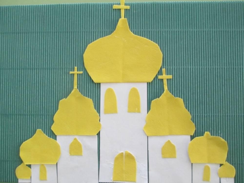 Поделки из бумаг церковь