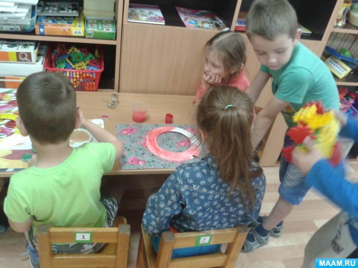 Осенний венок для оформления группы или приёмной в детском саду