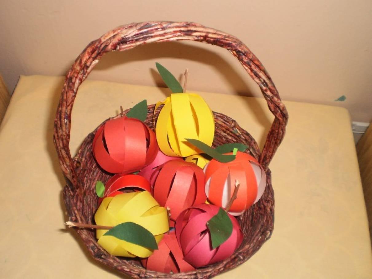 Поделка на яблочный спас для детей