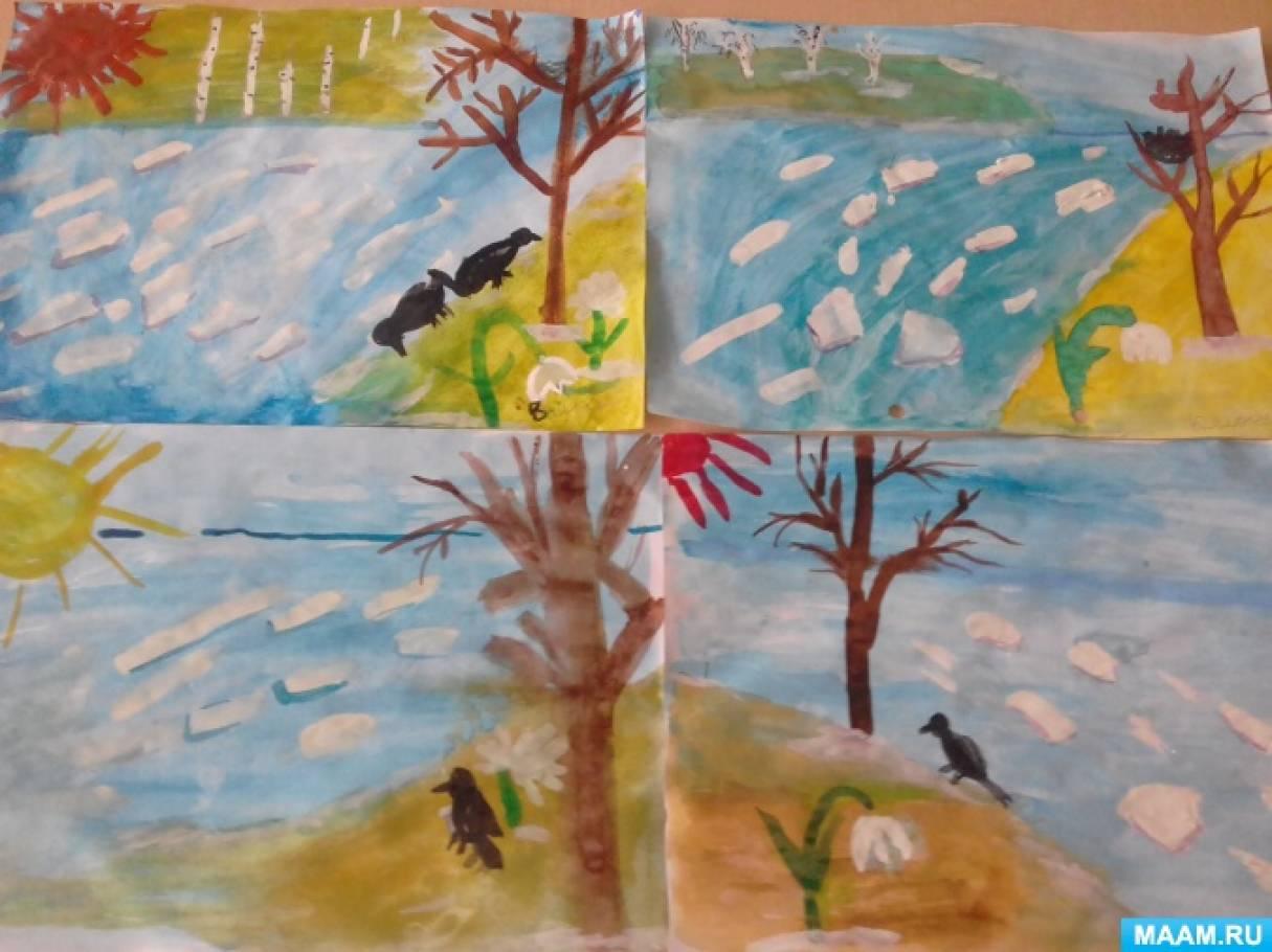 «Утро весны». Беседа и художественное творчество детей старшего дошкольного возраста