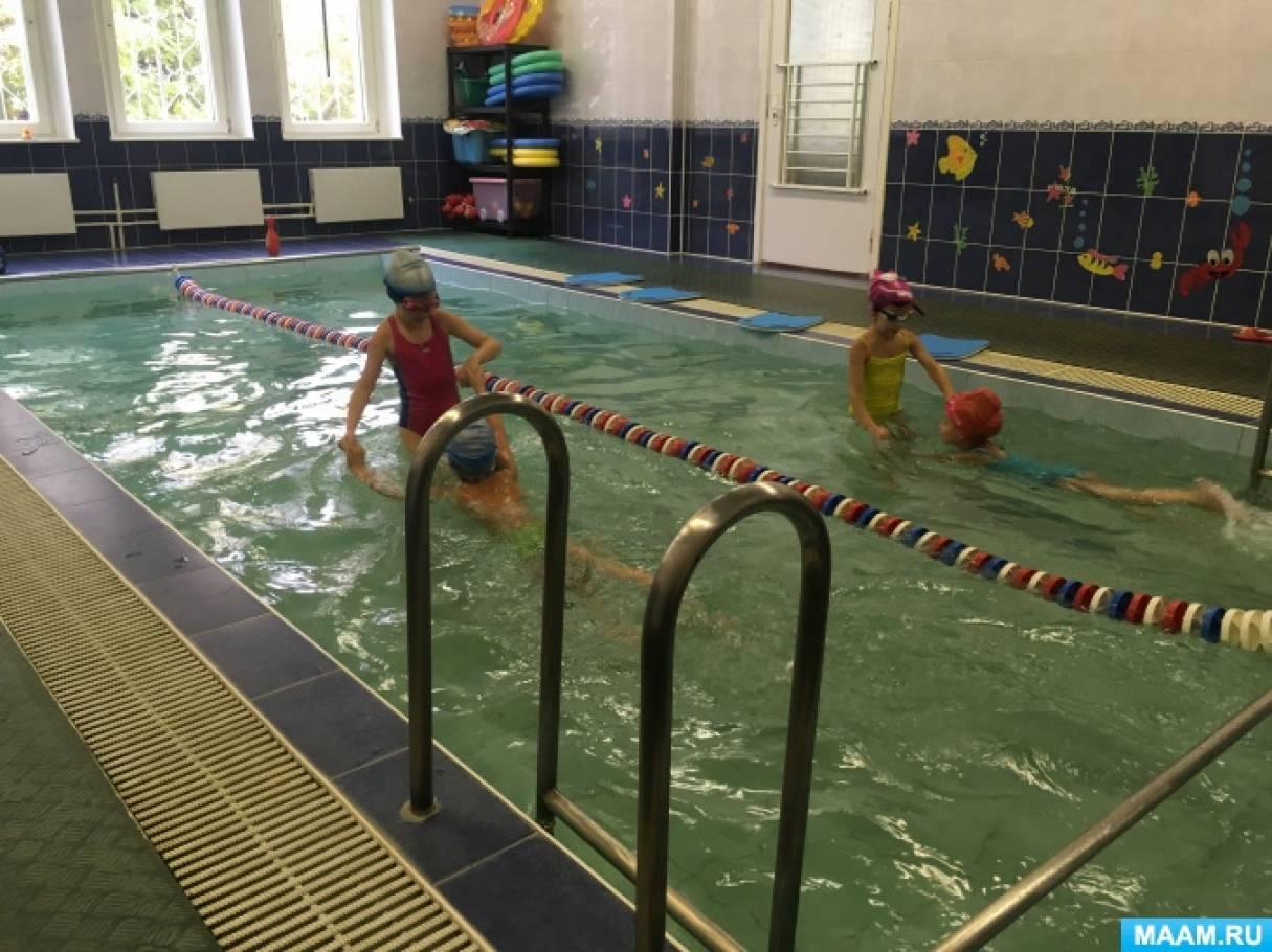 Фотоотчет о досуге в бассейне «Большой заплыв»