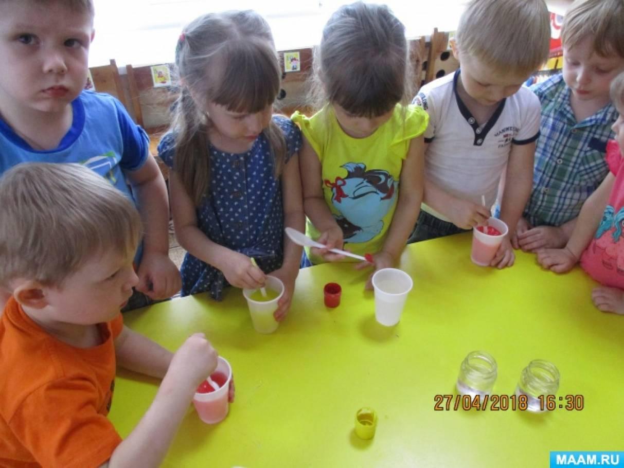 Конспект НОД по экспериментированию с водой «Маленькие помощники фокусника» во второй младшей группе