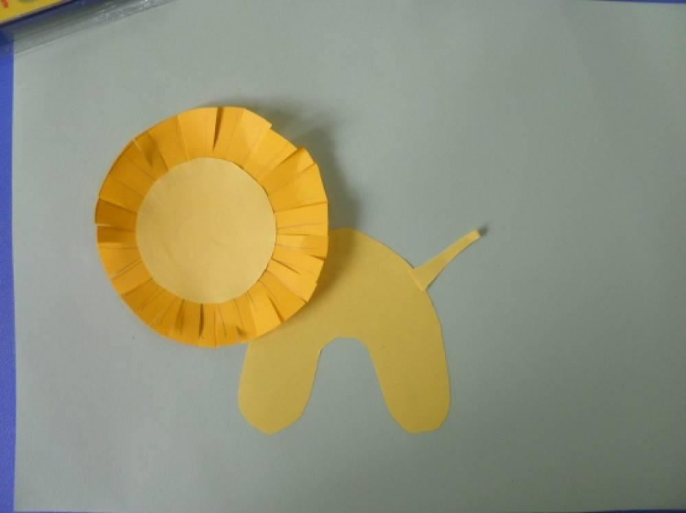 Поделки из бумаги львёнок 24