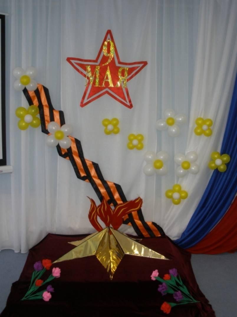 Оформление приемной в детском саду к 9 мая