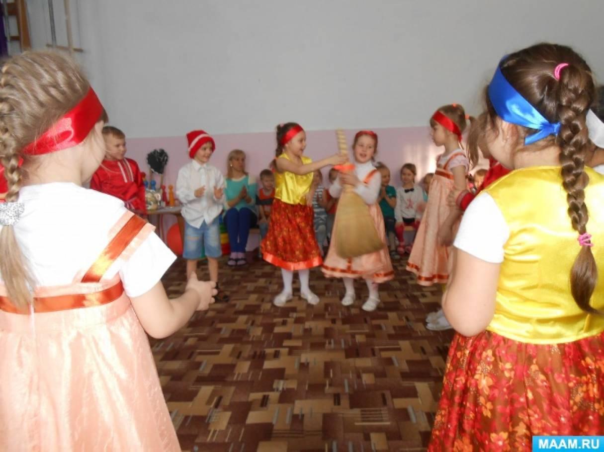 Физкультурное развлечение для старших групп, построенное на русских народных играх «Рождественские святки»