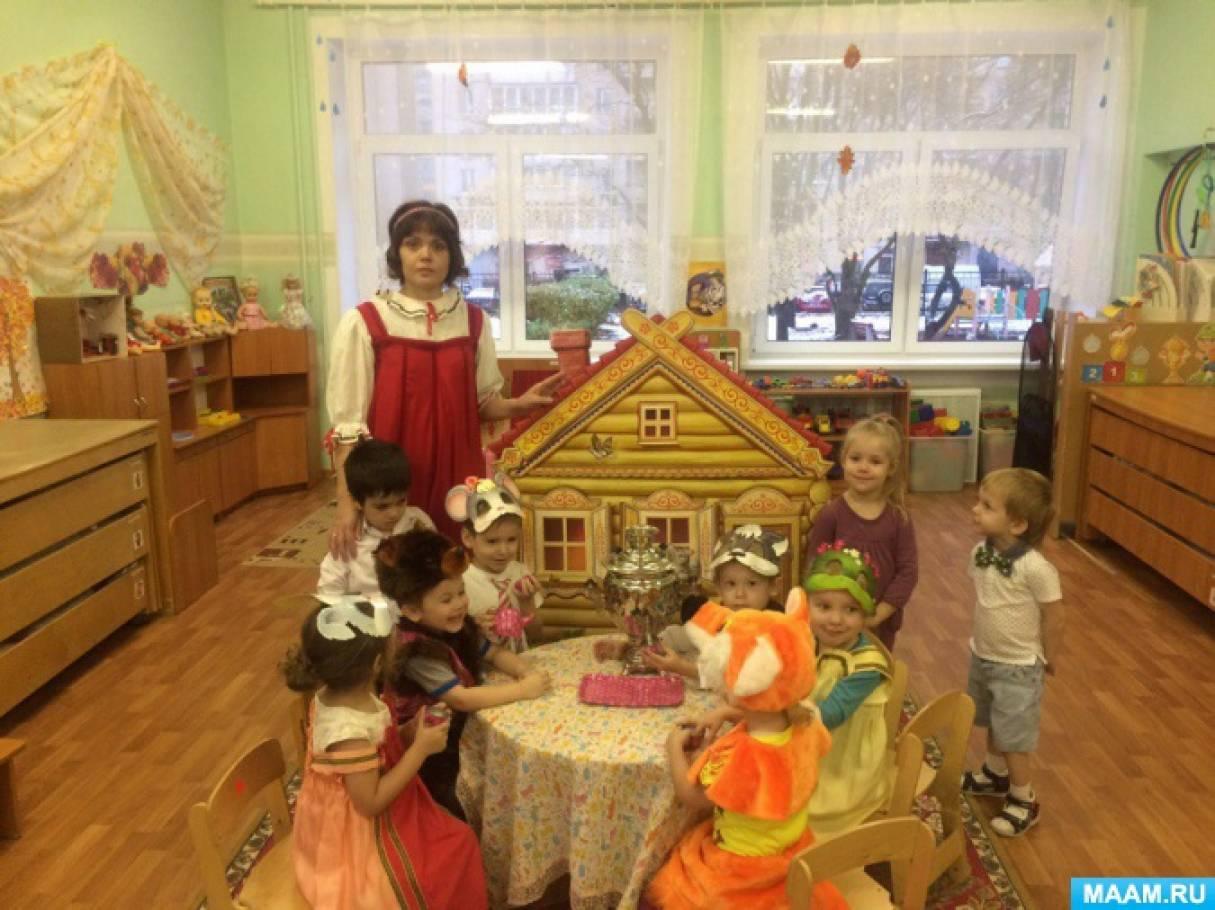 знакомство с русской избой в детском саду