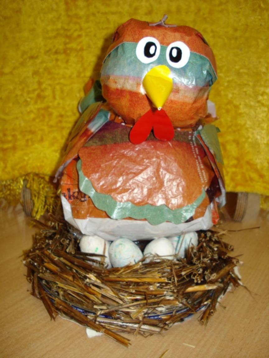 Мастер-класс по изготовлению гнезда для украшения интерьера детского сада «Курочка — Рябушечка»