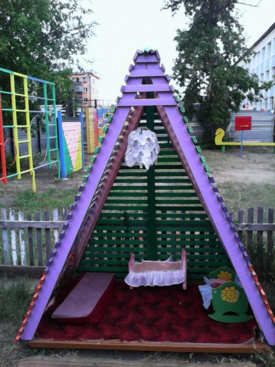 Постройки в детском саду на участке своими руками фото 18