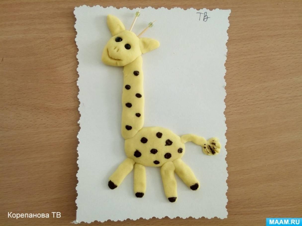 Фотоотчет занятия по тестопластике «Жираф»