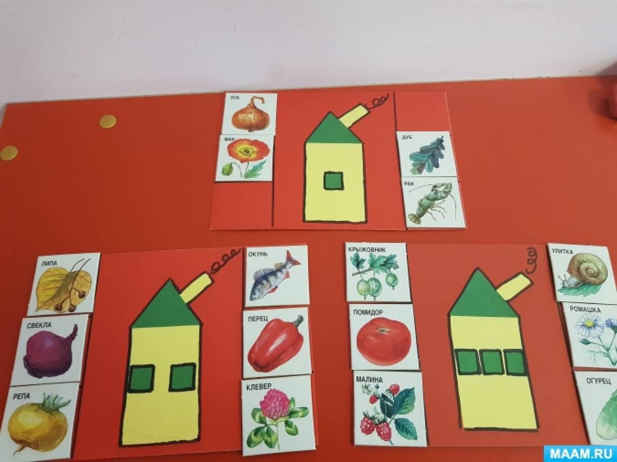 Дидактическая игра «Найди домик для слова» для детей 5–7 лет