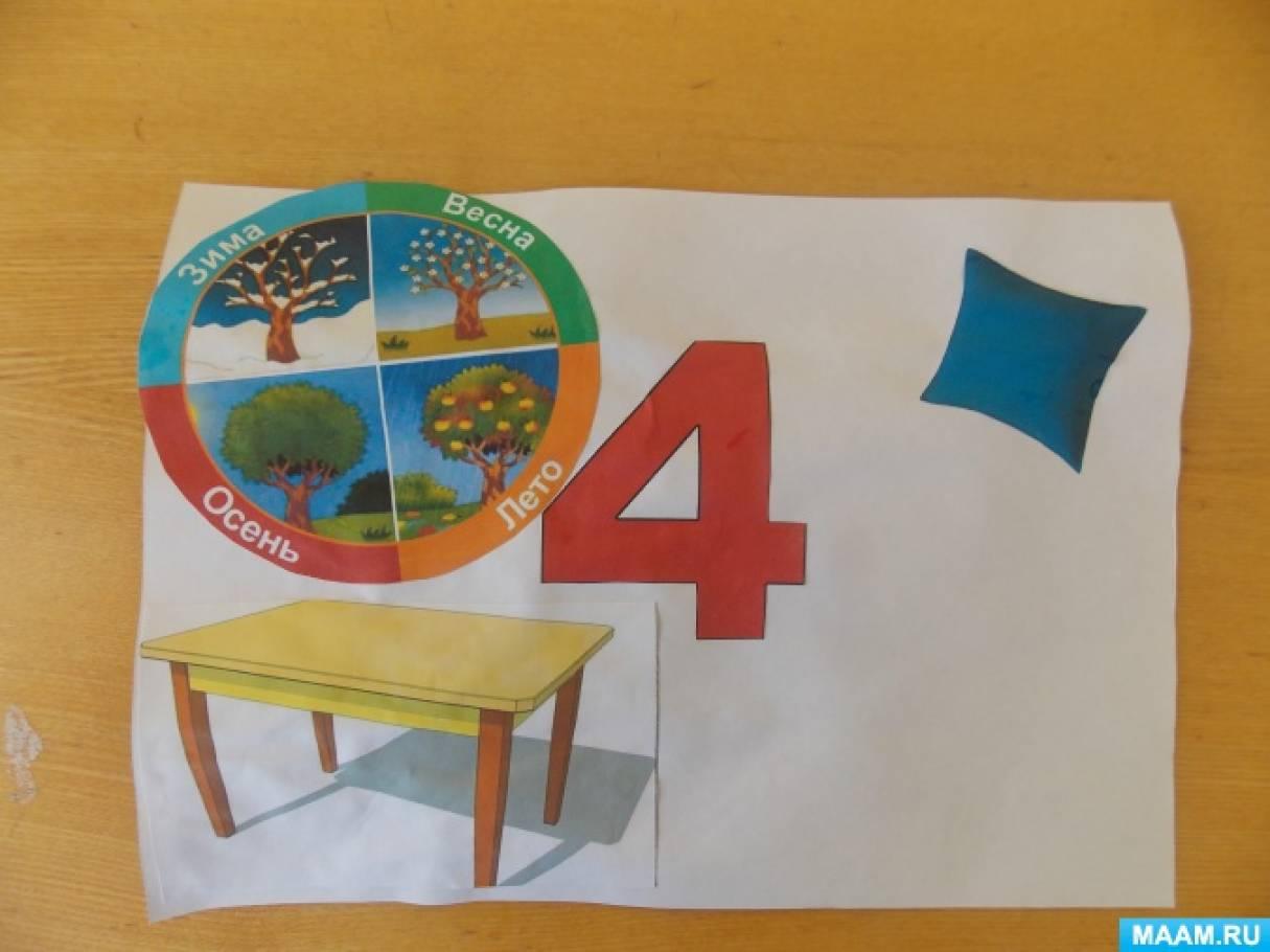 знакомство с числом и цифрой 5 в средней группе