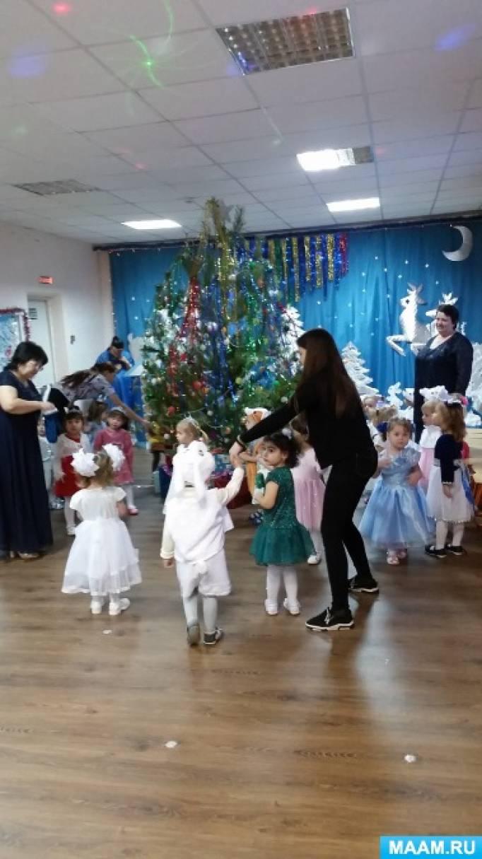 Сценарий новогоднего праздника для детей ясельной группы «Дед Мороз в гостях у ребят»