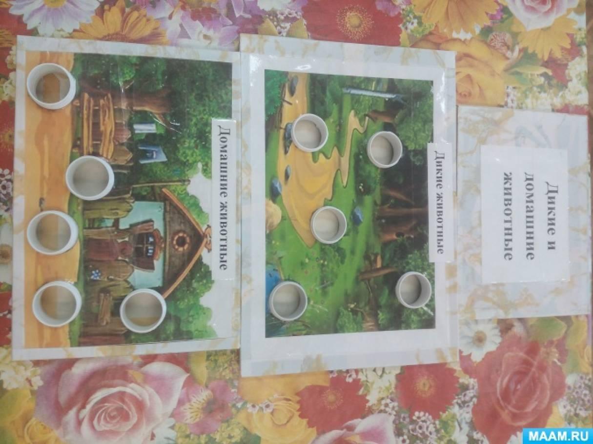 Дидактическая игра «Дикие и домашние животные»
