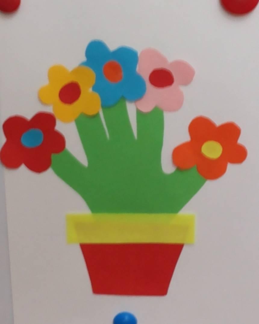 Аппликация с цветами своими руками 161