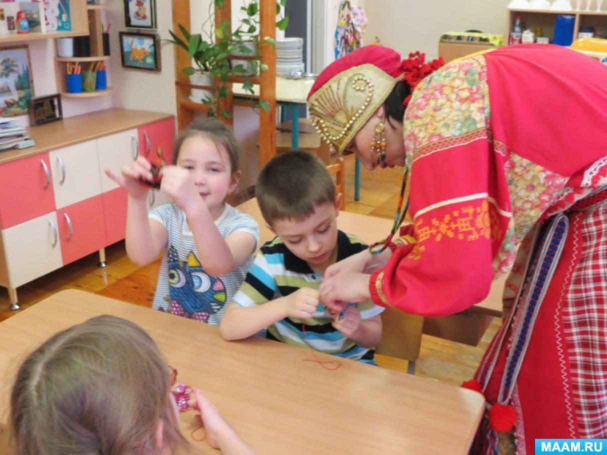 знакомство с народной игрушкой в детском саду
