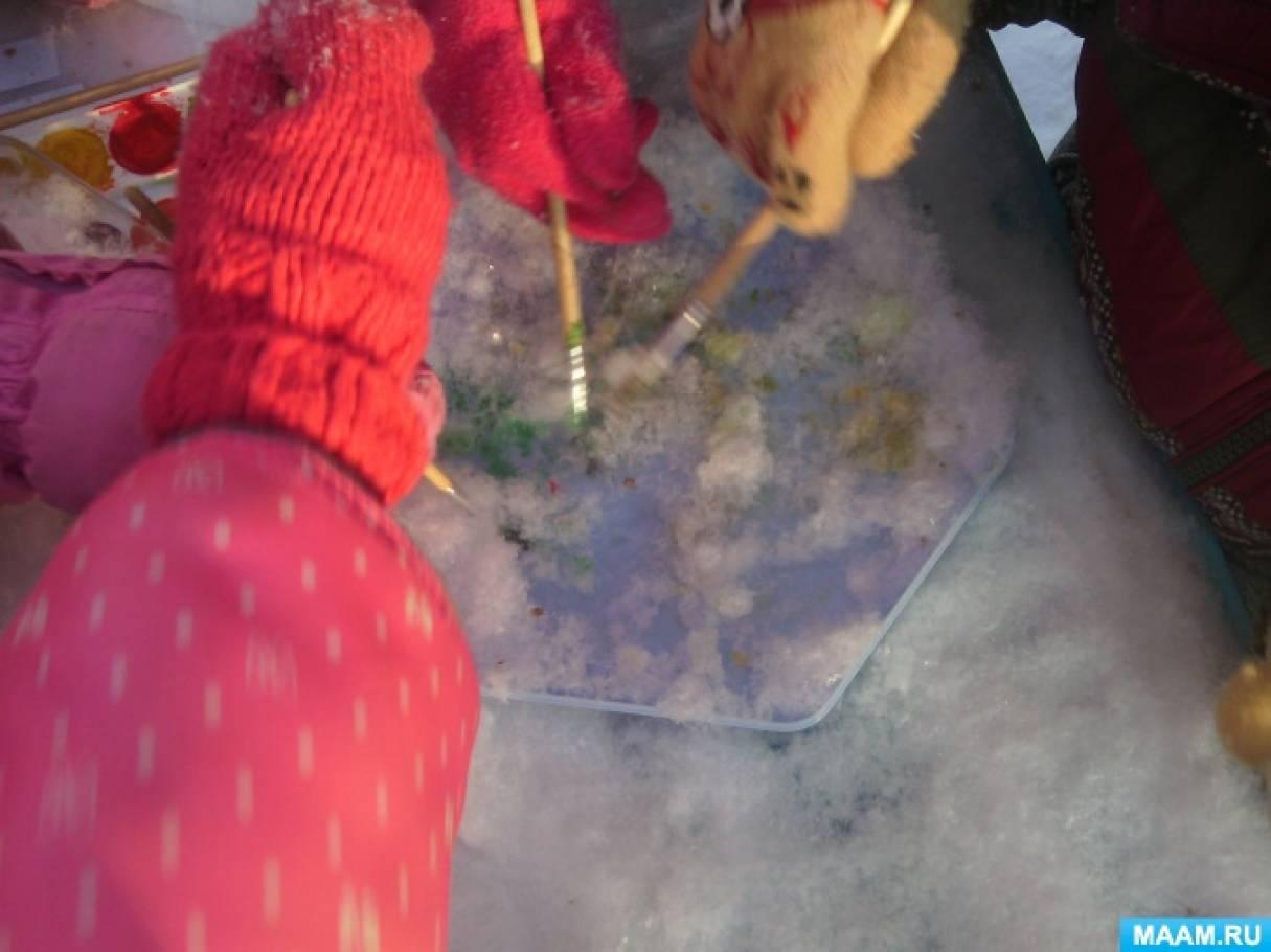 знакомство детей со свойствами льда и снега