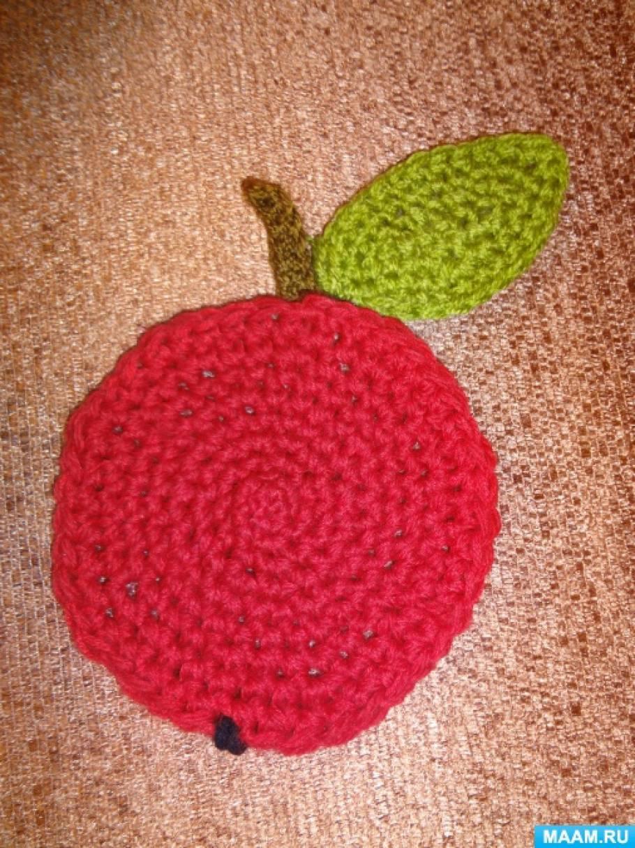 Яблоко из салфеток