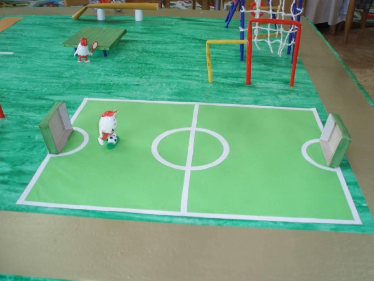 Оформление спортивной детской площадки