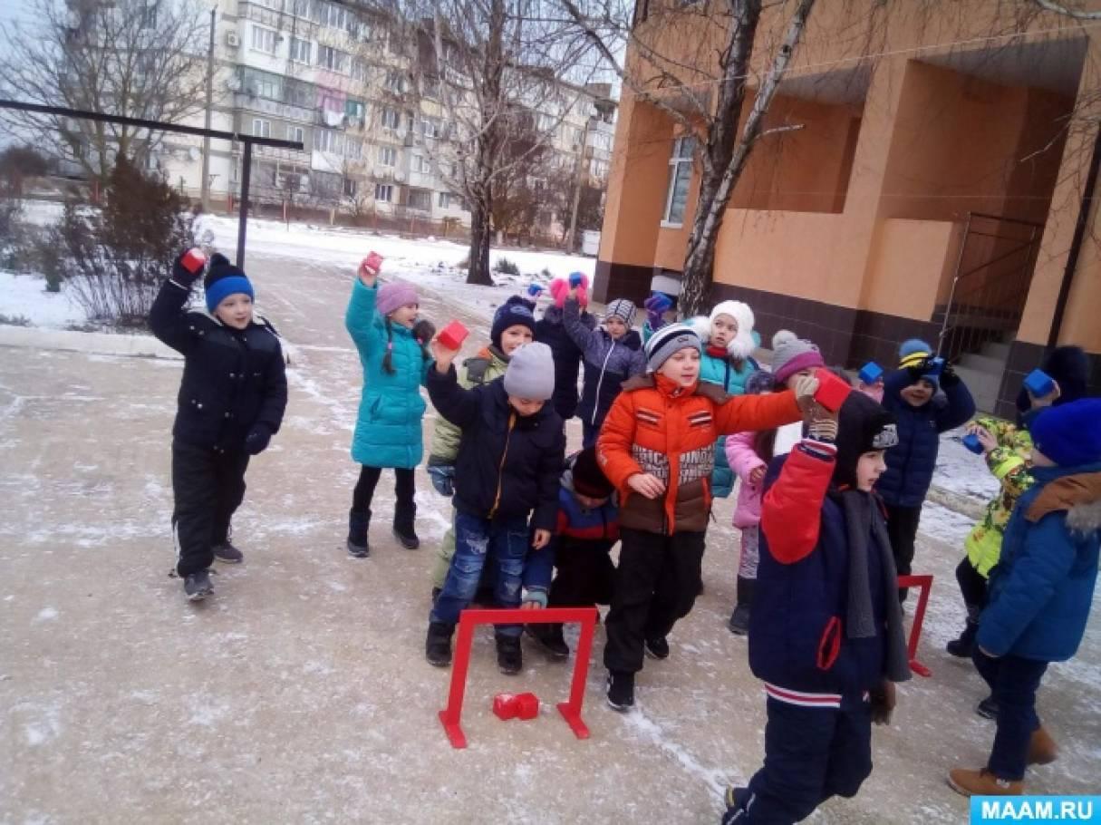 Фотоотчет «Зимние забавы в подготовительной группе»