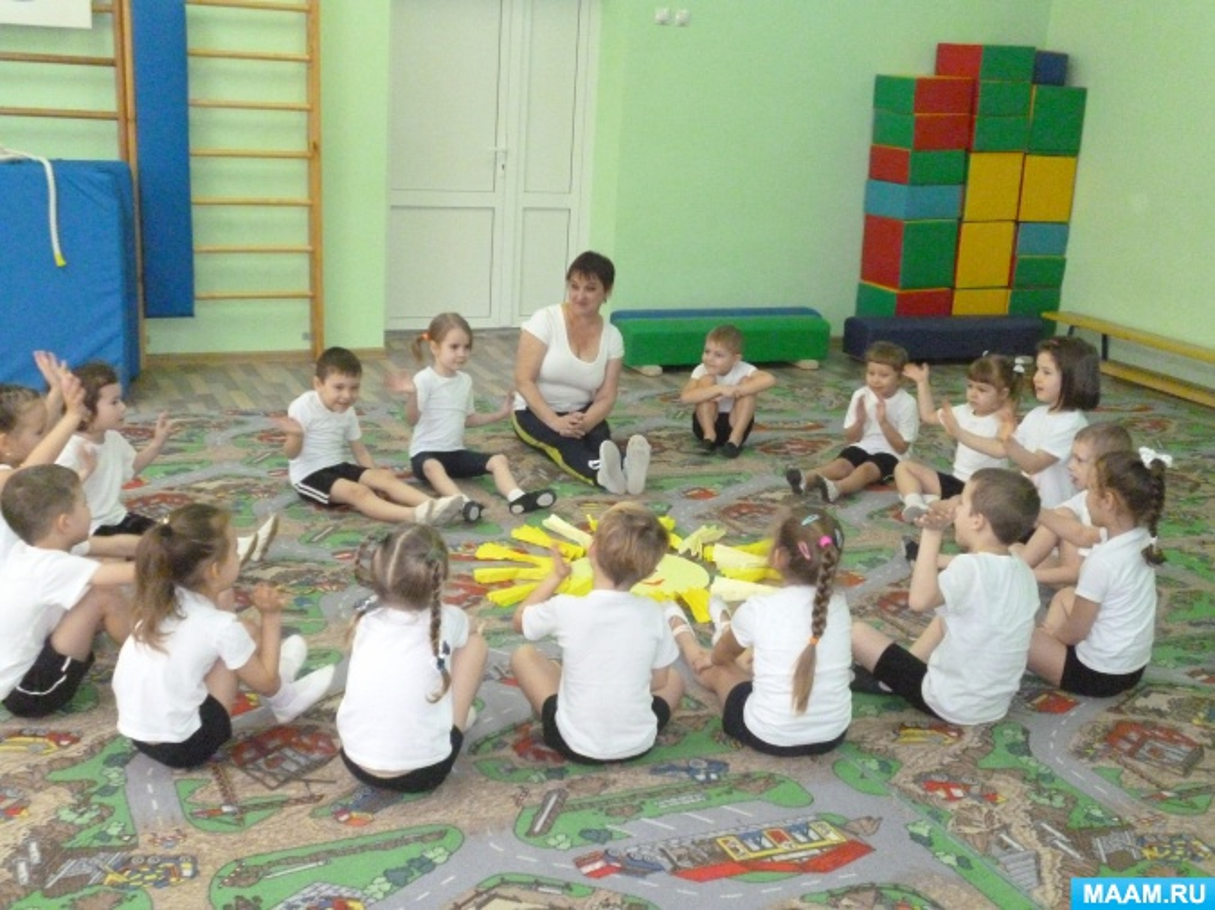 Физкультурное занятие с использованием нетрадиционного оборудования для детей старшей группы