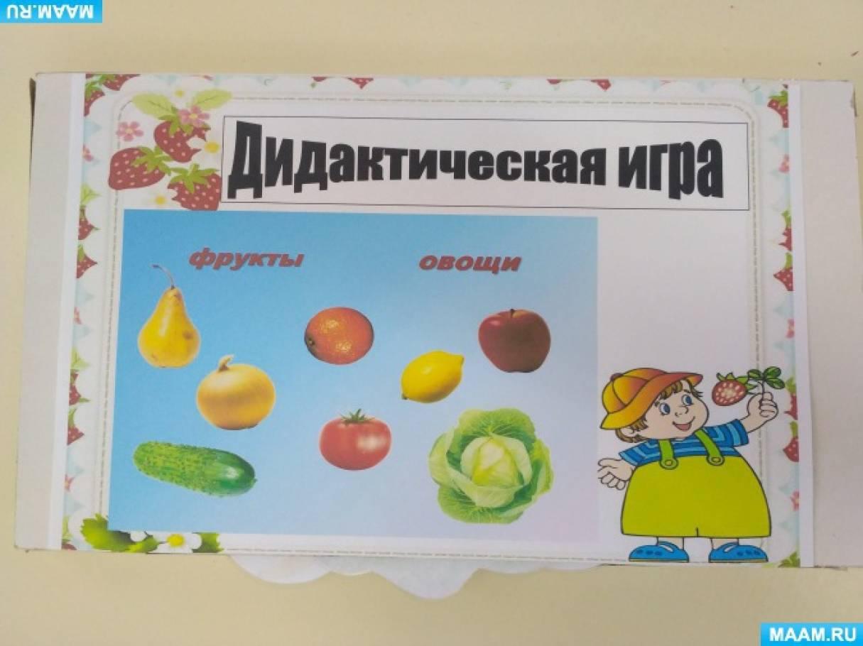 Дидактическая игра «Фрукты— овощи» (4–5 лет)