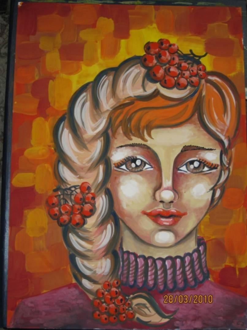 Картинки девочка в образе осени
