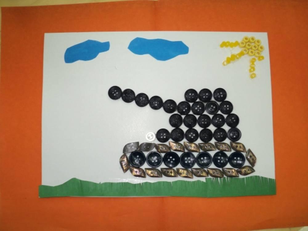 Аппликация к 23 февраля в детский сад своими руками