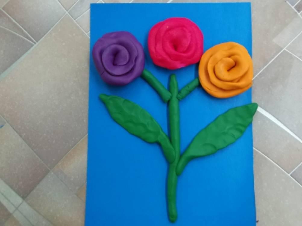 Лепка открытка для мамы, как сделать открытку