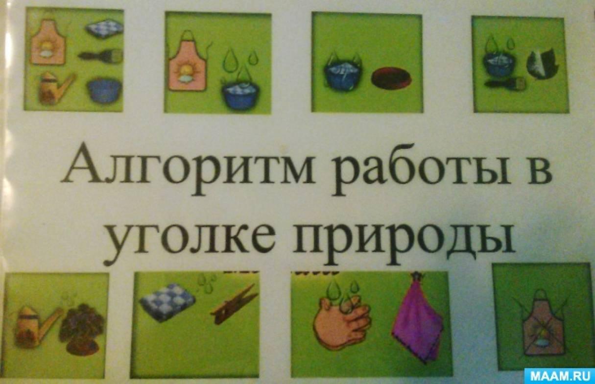 Конспект организованной образовательной деятельности с детьми старшего дошкольного возраста «Дежурство в уголке природы»