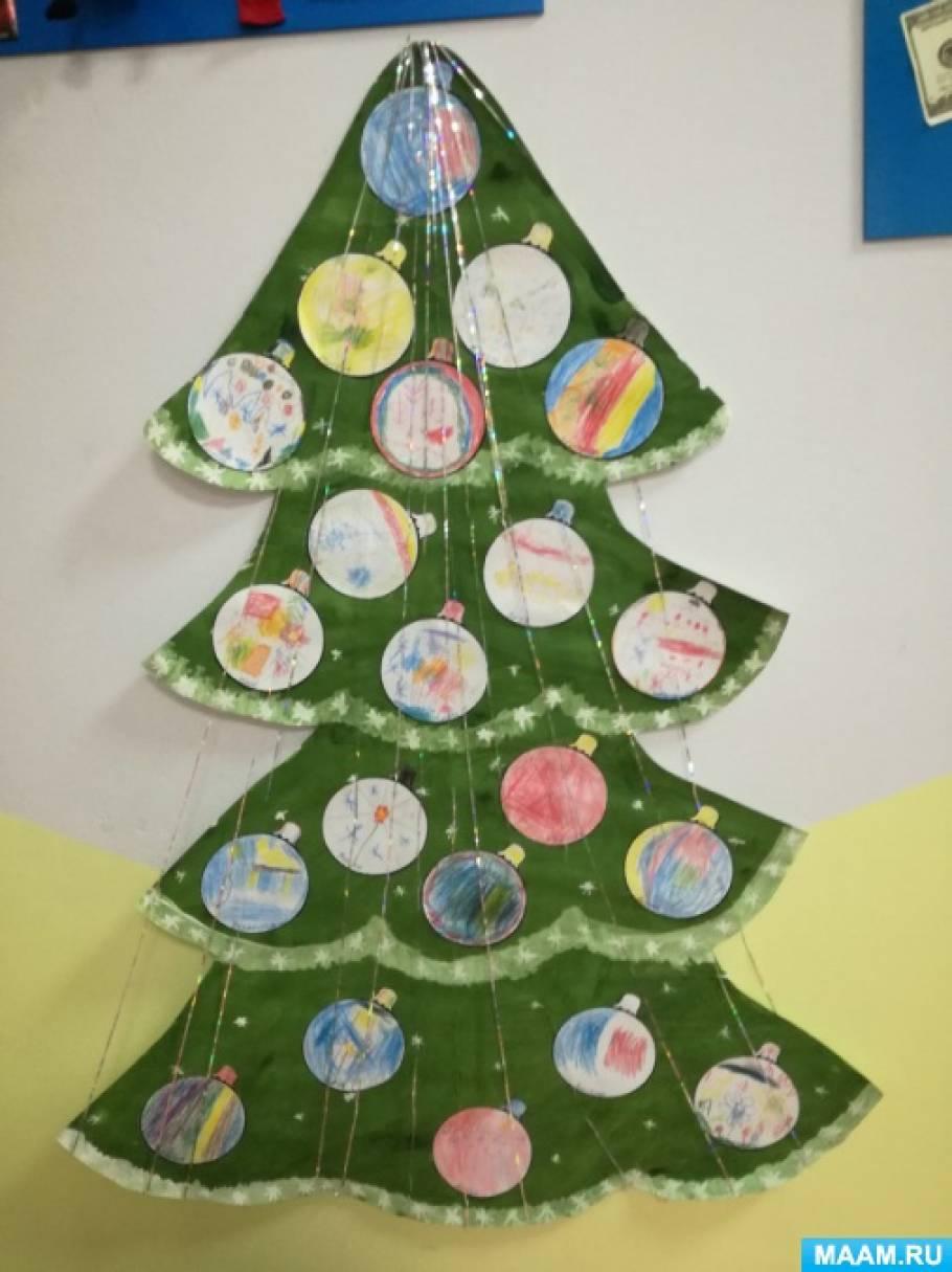 Конспект занятия по рисованию в старшей группе новогодняя елка