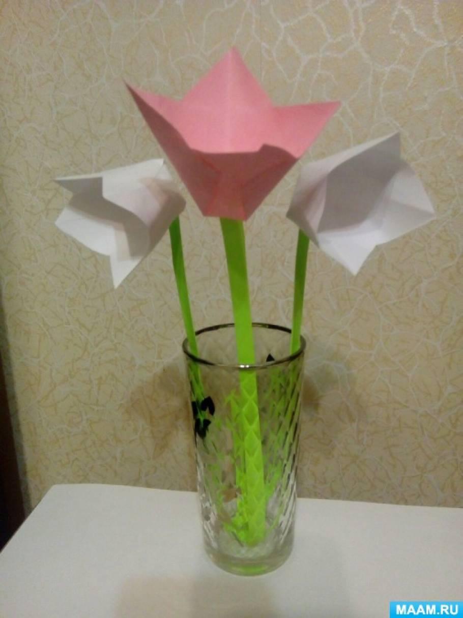 Мастер-класс «Тюльпан маме на 8 Марта»