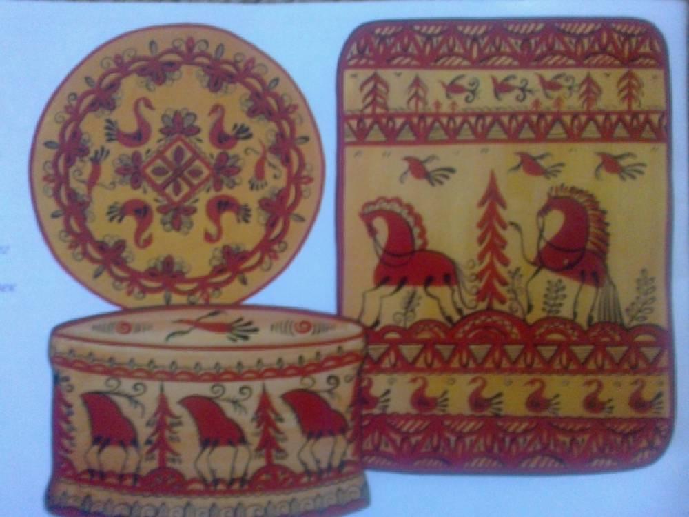 Основы народного искусства «Изображение животных-оленей в традиционной мезенской росписи» (подготовительная группа)
