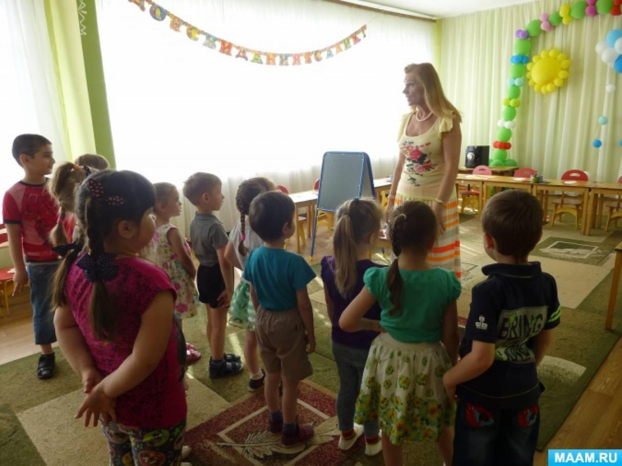 Конспект НОД по изобразительной деятельности для детей средней группы «Разноцветные бабочки»