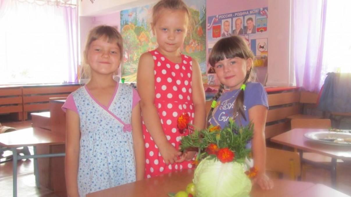 Детский мастер-класс «Икебана из капусты» (поделка из овощей)