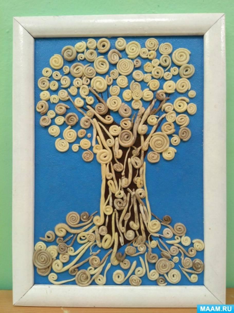 «Зимнее дерево». Конспект открытого интегрированного занятия по пластилинографии в средней группе