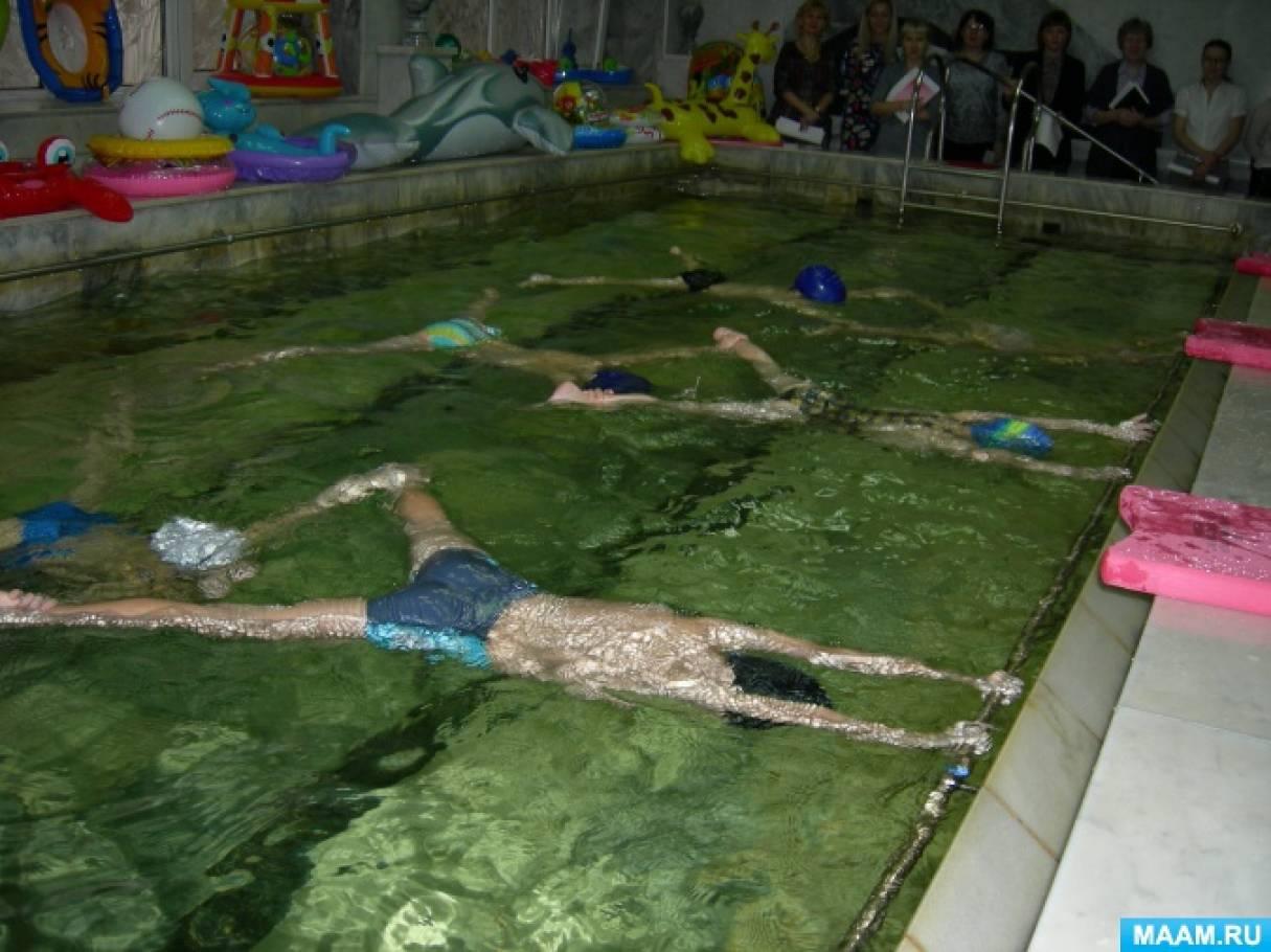 Фотоотчет о художественном плавании «Рисунки на воде»