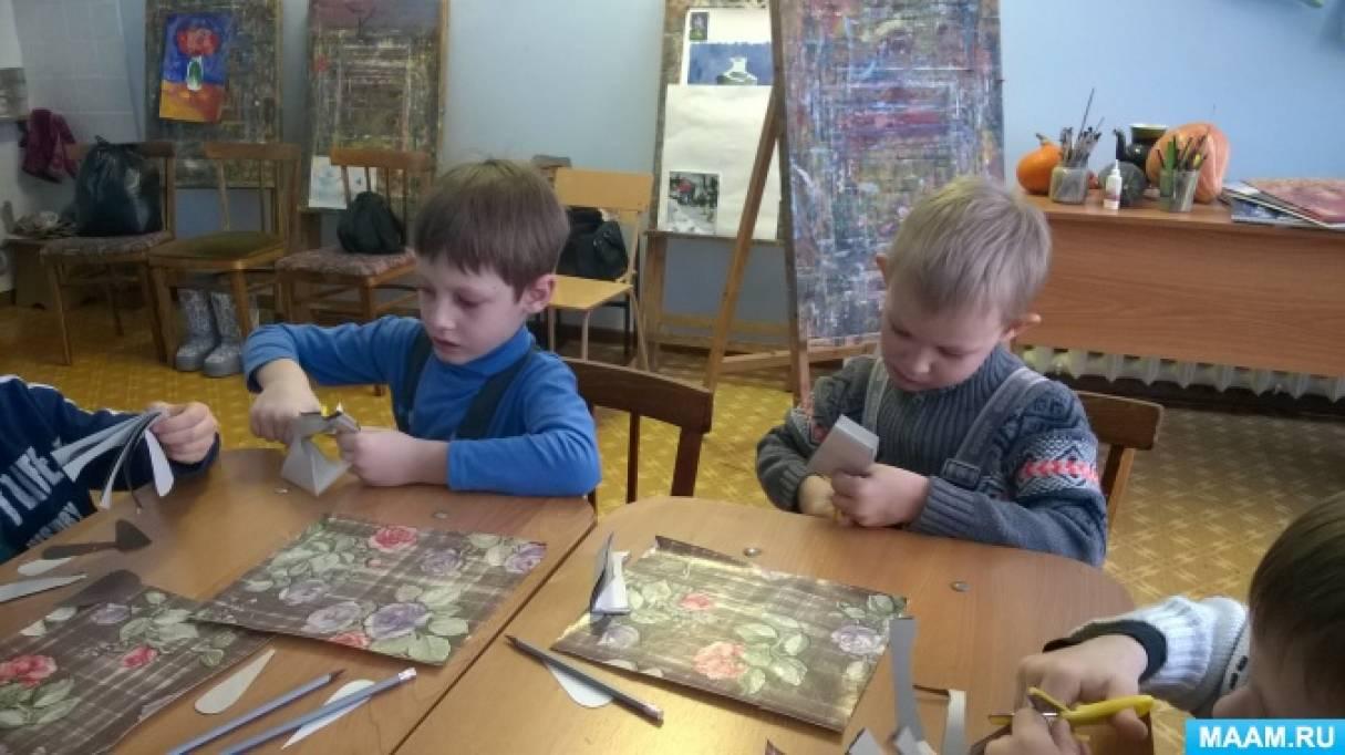 Мастер-класс по аппликации для дошкольников подготовительной группы по сказке «Снежная Королева»