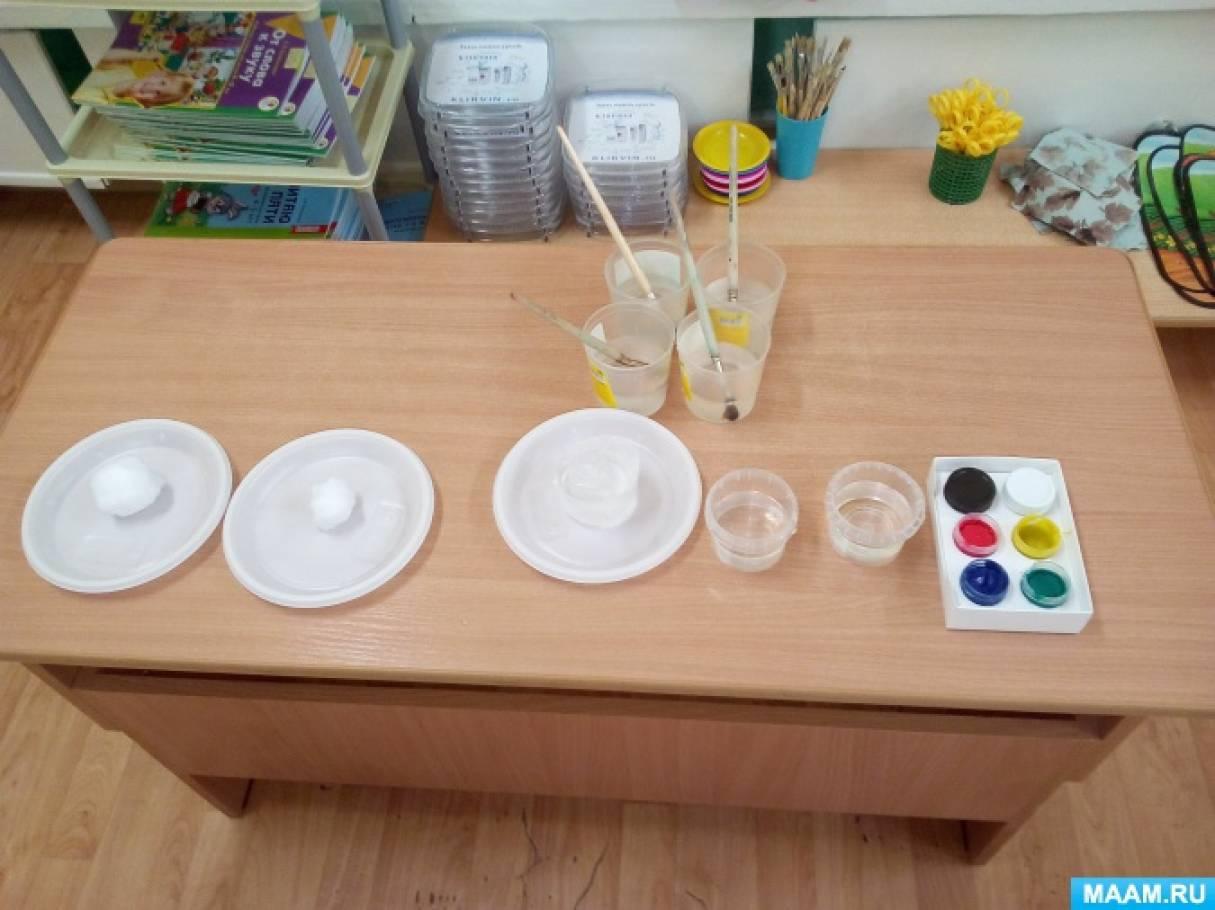Эксперимент «Как покрасить лед?» с детьми 4–5 лет