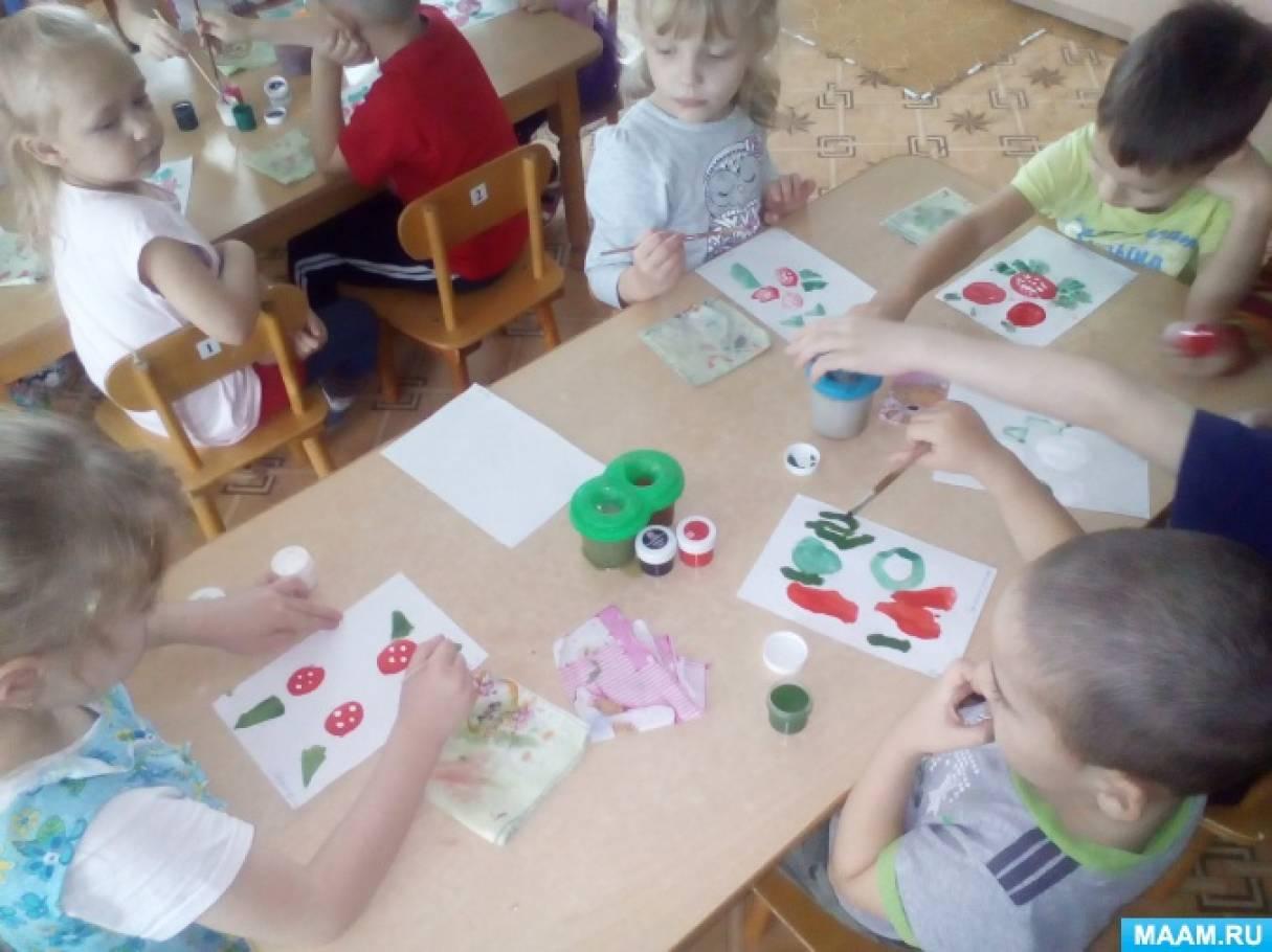 конспект занятия по рисованию знакомство с городецкой росписью